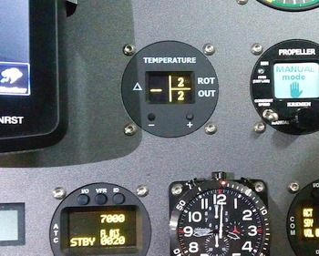 Bearings Temperature Alarm for Gyroplanes